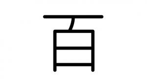漢字「百」